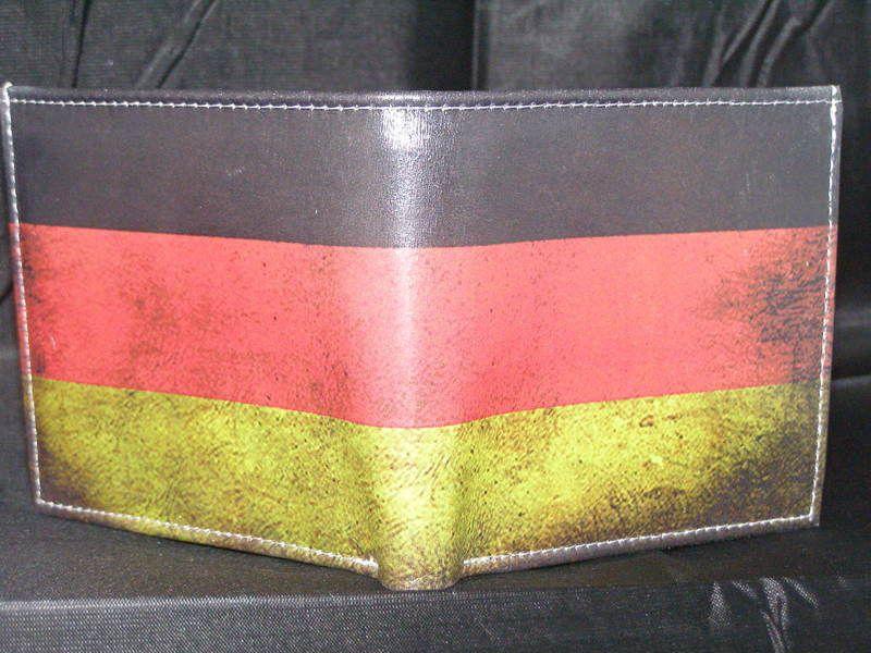 Leder Portemonnaie Vintage Flag Germany Deutsch... von LimitedLeatherWallet auf DaWanda.com