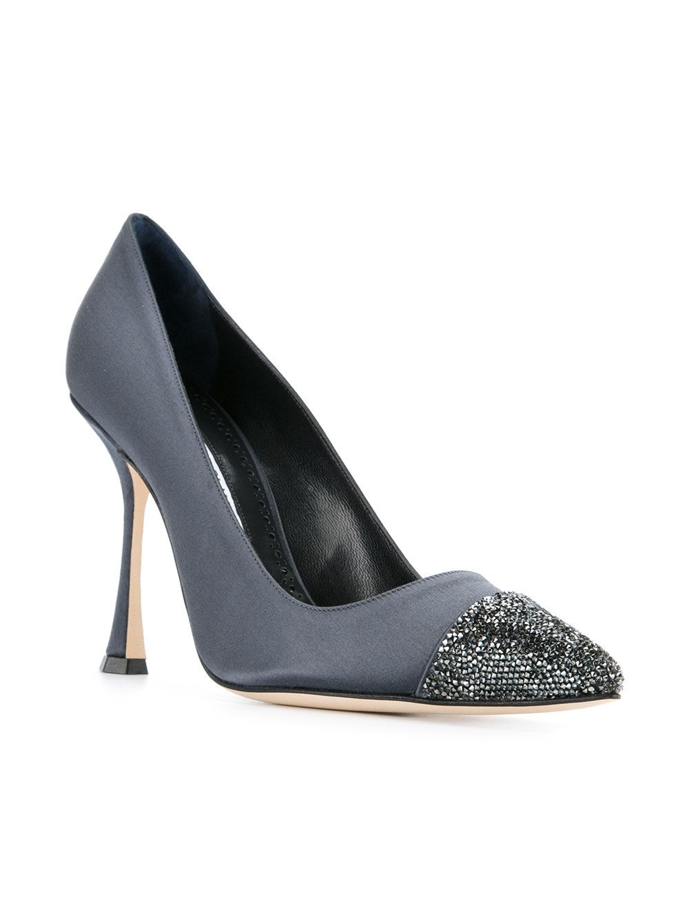 low shipping online outlet clearance Manolo Blahnik Crystalbi Satin Pumps discount collections ZS2GkLqB