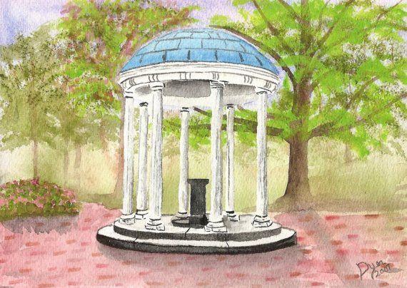 "1892 UNC Chapel Hill Original Old Well Tarheels Reproduction 4/"" x 6/"" Photograph"
