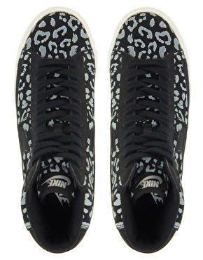 huge discount 25b7f df61d Nike Blazer Mid Black Leopard Print Trainers