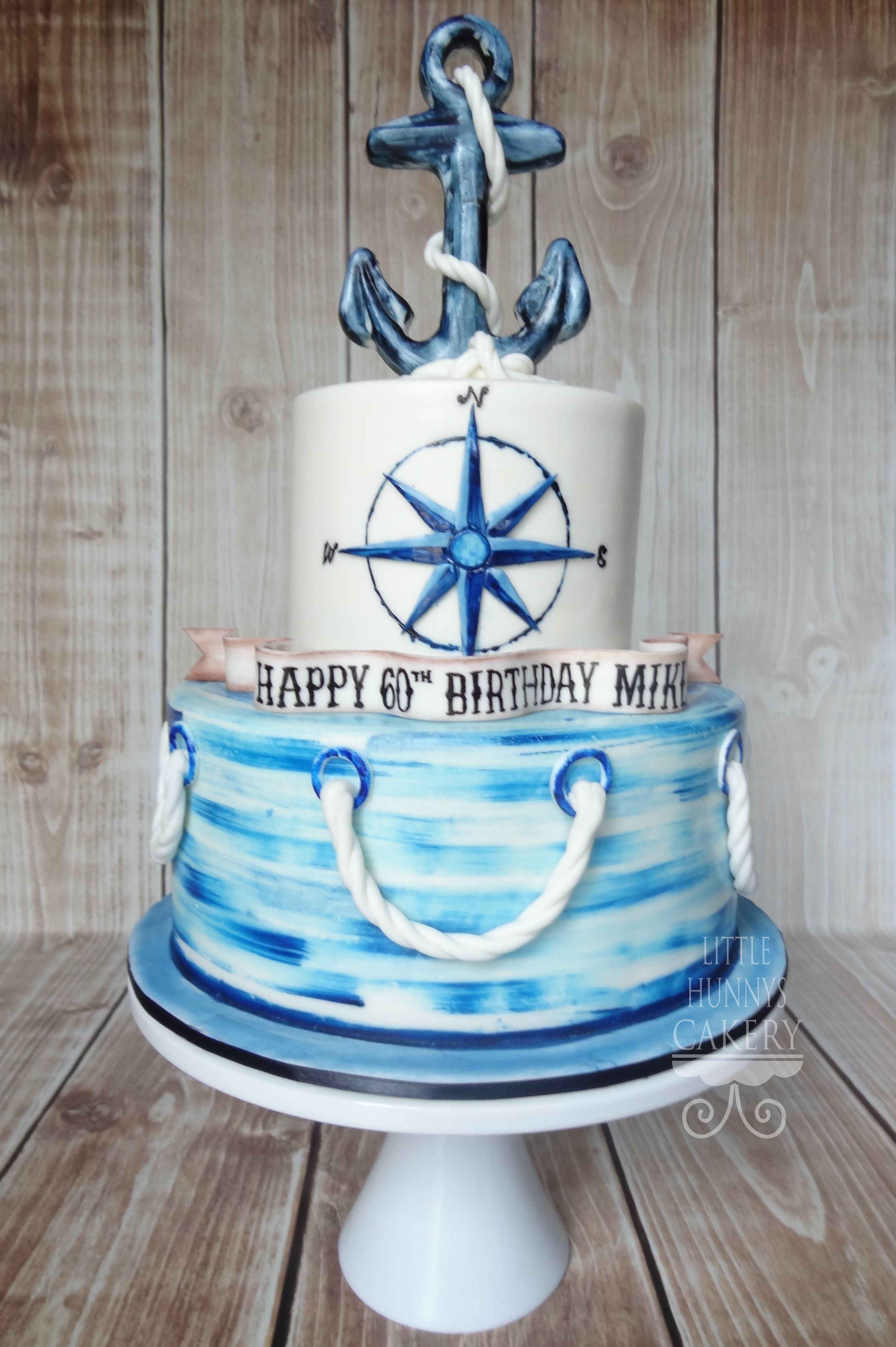 Super Vintage Nautical Birthday Cake All Edible Tort Tort Weselny Personalised Birthday Cards Veneteletsinfo