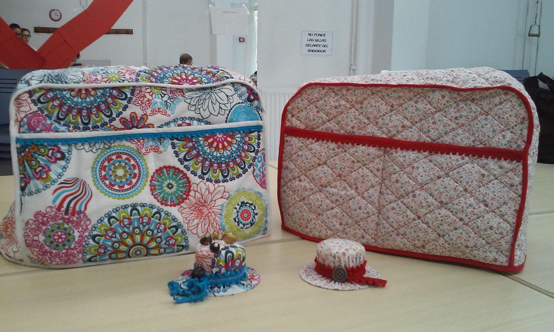 fundas de maquinas de coser y alfileteros