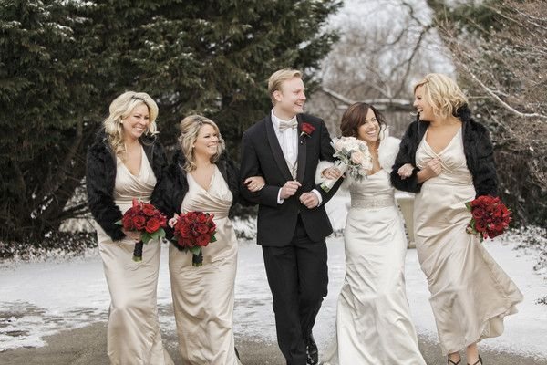 Chic Winter Greenhouse Wedding   Winter bridesmaid