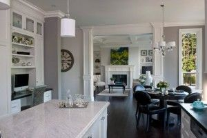 Free Painting Estimate Open Floor Plan White Modern Kitchen Home