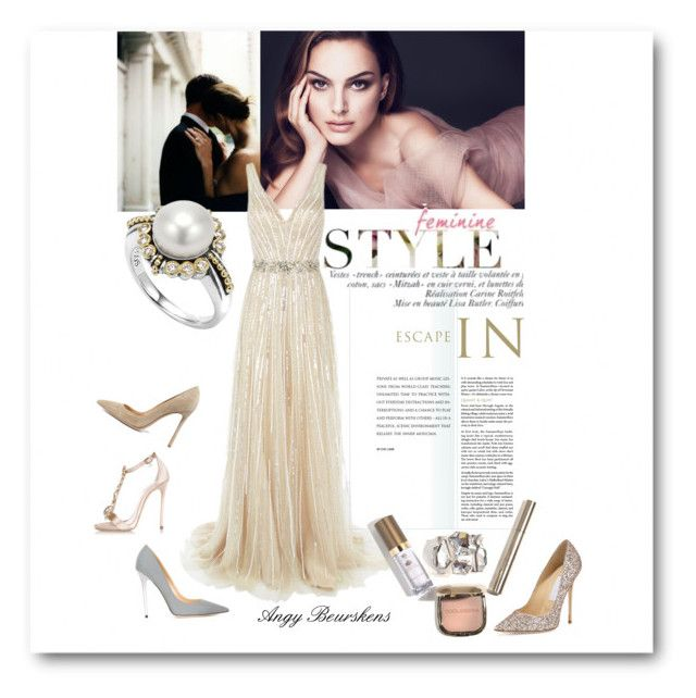 """""""ROYAL BLUSH"""" by angy-beurskens ❤ liked on Polyvore featuring Christian Dior, Jovani, Gianvito Rossi, Lagos, Jimmy Choo and Dsquared2"""