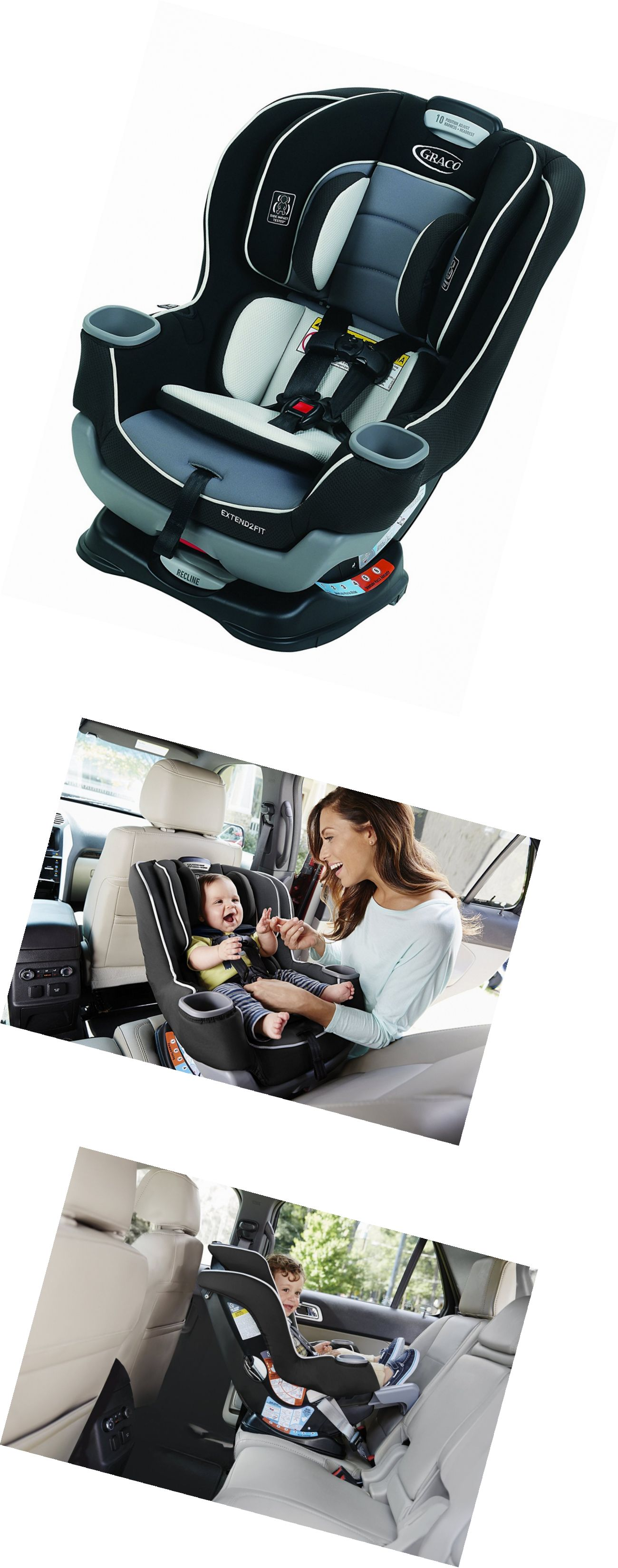 Infant Car Seat 5 20 Lbs 66696 Graco Extend2fit Convertible Gotham