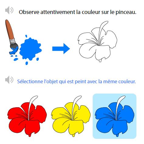 associer une couleur un objet identifier les couleurs primaires bleu rouge et jaune. Black Bedroom Furniture Sets. Home Design Ideas
