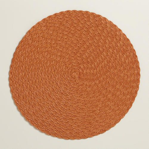 One of my favorite discoveries at WorldMarket.com: Orange Braided Round Placemats, Set of 4