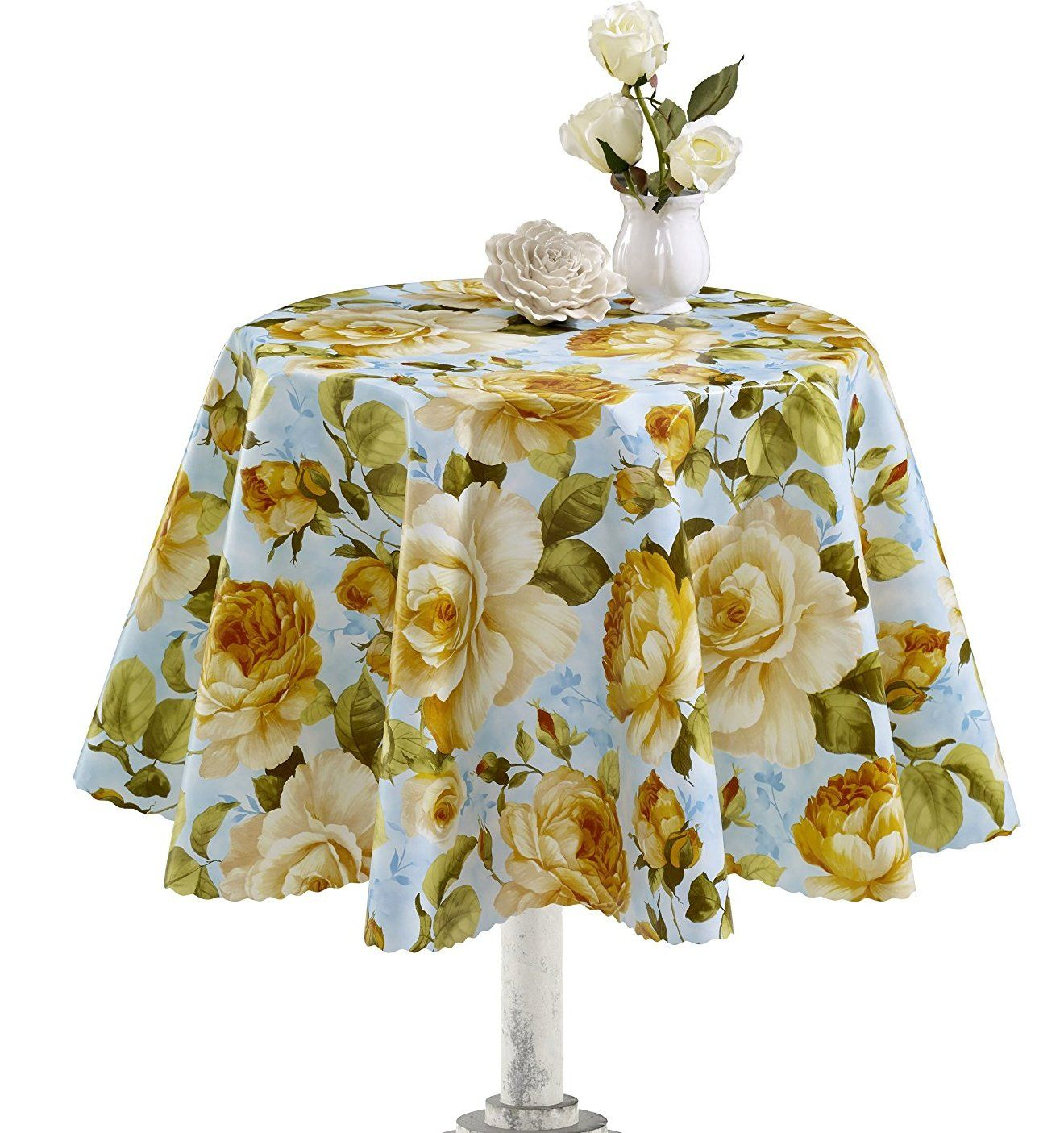 Yellow Rose Vinyl Indoor/Outdoor Tablecloth | Products | Pinterest ...