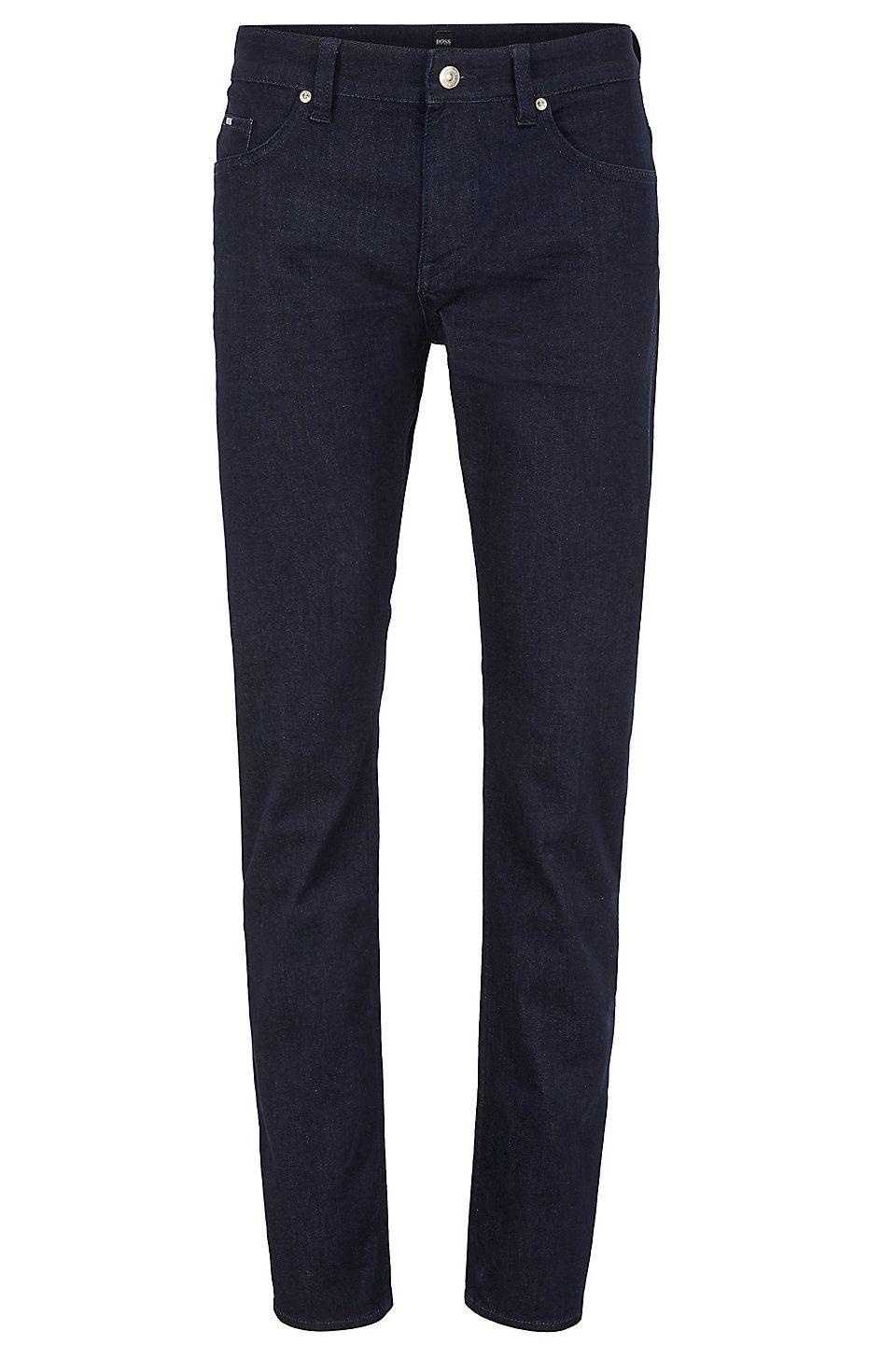 3e9c8ea2e HUGO BOSS Slim-fit dark-blue jeans in comfort-stretch denim - Dark ...