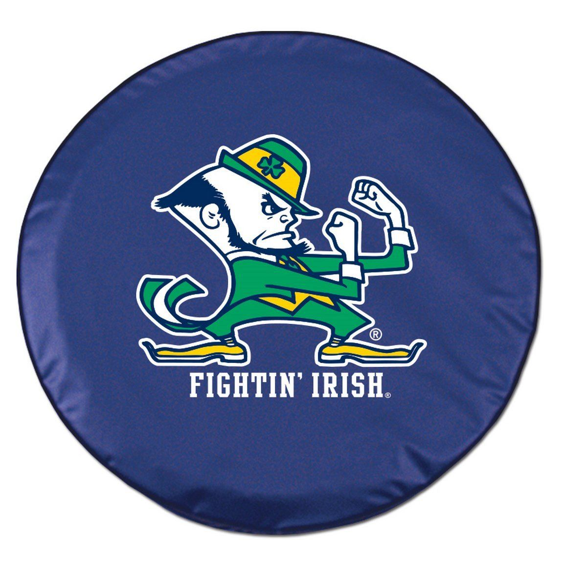 """Notre Dame Fighting Irish HBS Navy """"ND"""" Fitted Car Tire"""