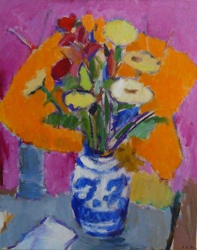 Flowers in Airini's vase - John Z Robinson Dunedin