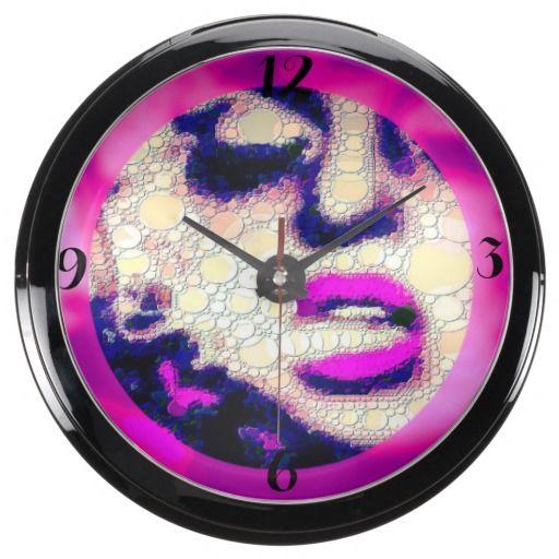Abstract woman w/ Attitude Art Fish Tank Clock