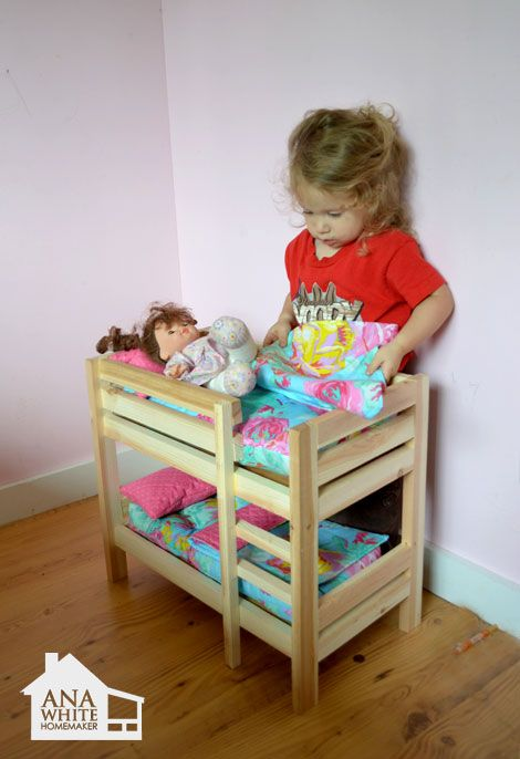 Ana White Build A Doll Bunk Beds For American Girl Doll And 18