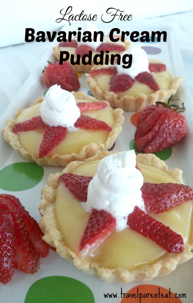 A creamy, yummy, vanilla-y pudding without lactose, perfect for any special occasion, or just because...