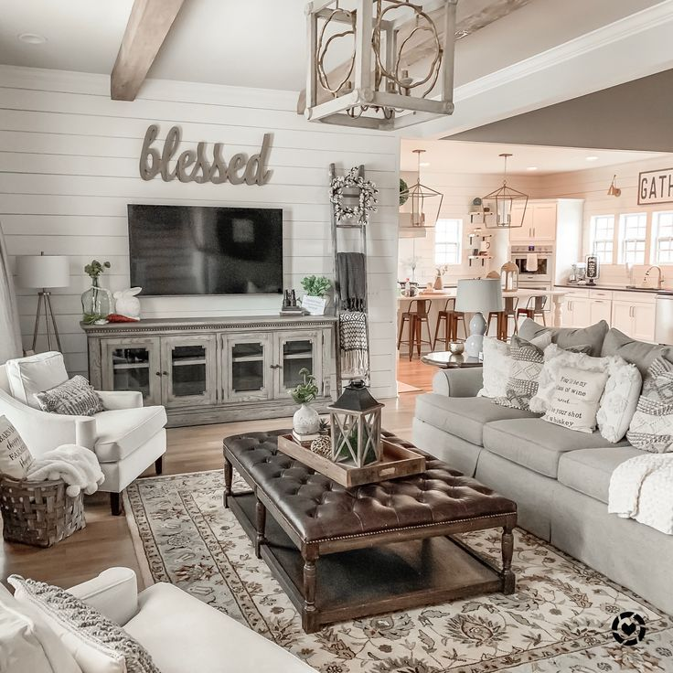 Modern Farmhouse Living Room Shop this picture by downloading the liketoknowit a images