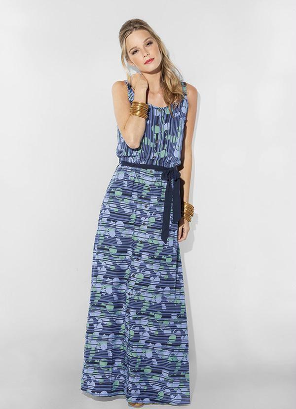 Vestido Azul Mineral
