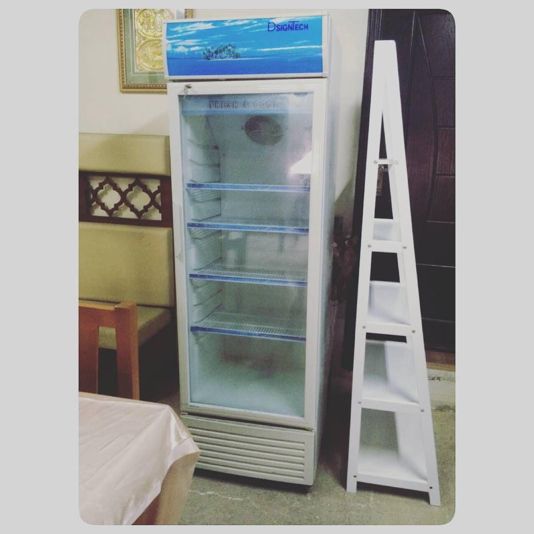 For Sale Designtech Chiller Stand Glass Door Price 100 Bd Tel 33770050 In 2020 Glass Door Ladder Bookcase Bookcase