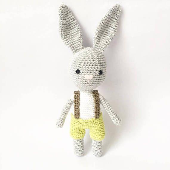 PATTERN Hubert The Little Bunny amigurumi pattern crochet ...