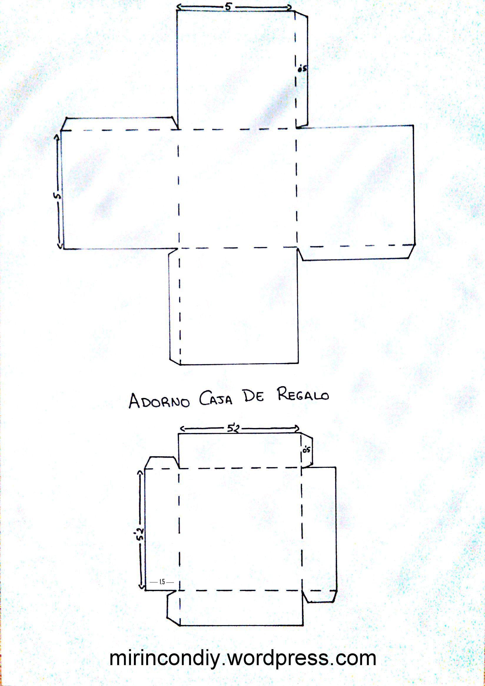 como hacer cajitas rectangulares de papel - Buscar con Google ...