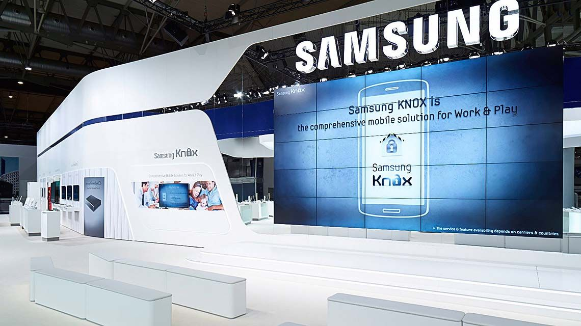 Samsung Exhibition Stand Design : Samsung mobile mwc barcelona exhibition stand