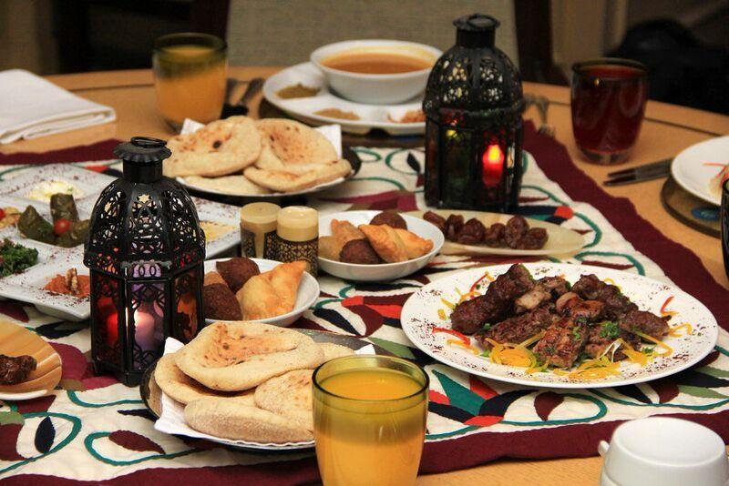 Iftar Kamareldin Sambousak Grilledkofta Karkadeh Soup Iftar