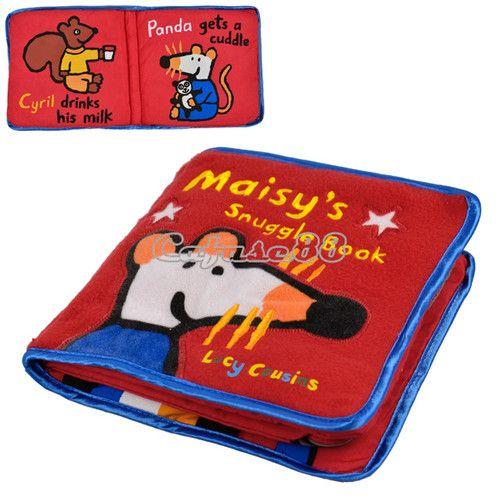 Children Baby Kid Preschool Educational Mouse Pattern Soft Cloth Hand Book GBP 2.68