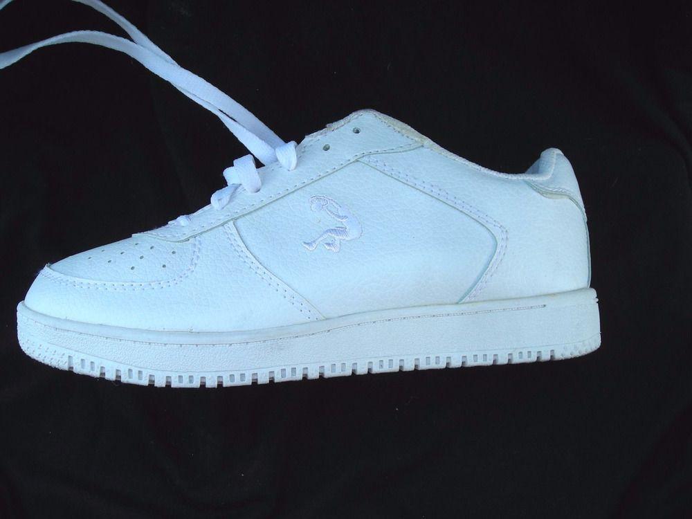 3d85138996ec3 Retro Shaq Dunkman 33 All White Leather Athletic Shoes Boy's Size ...