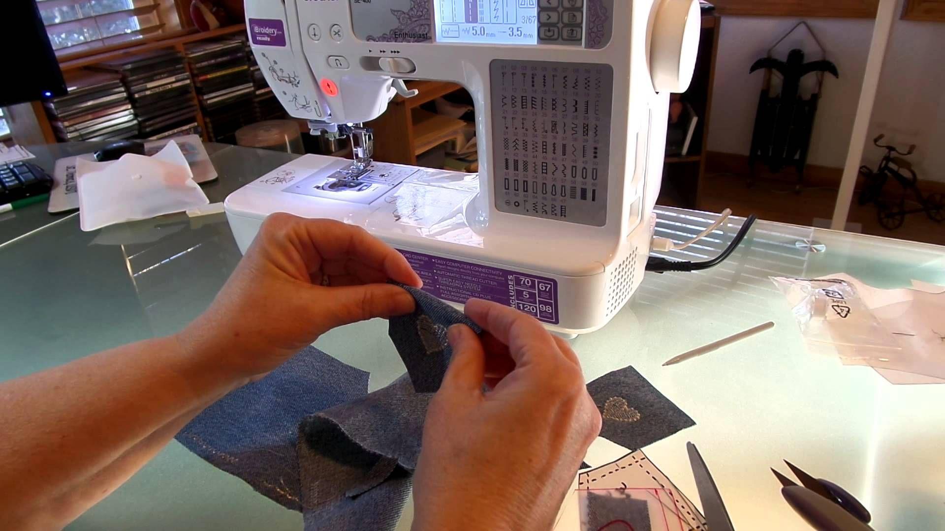 How to Make Put Designer Type Pockets on Doll Jeans Pt. 1