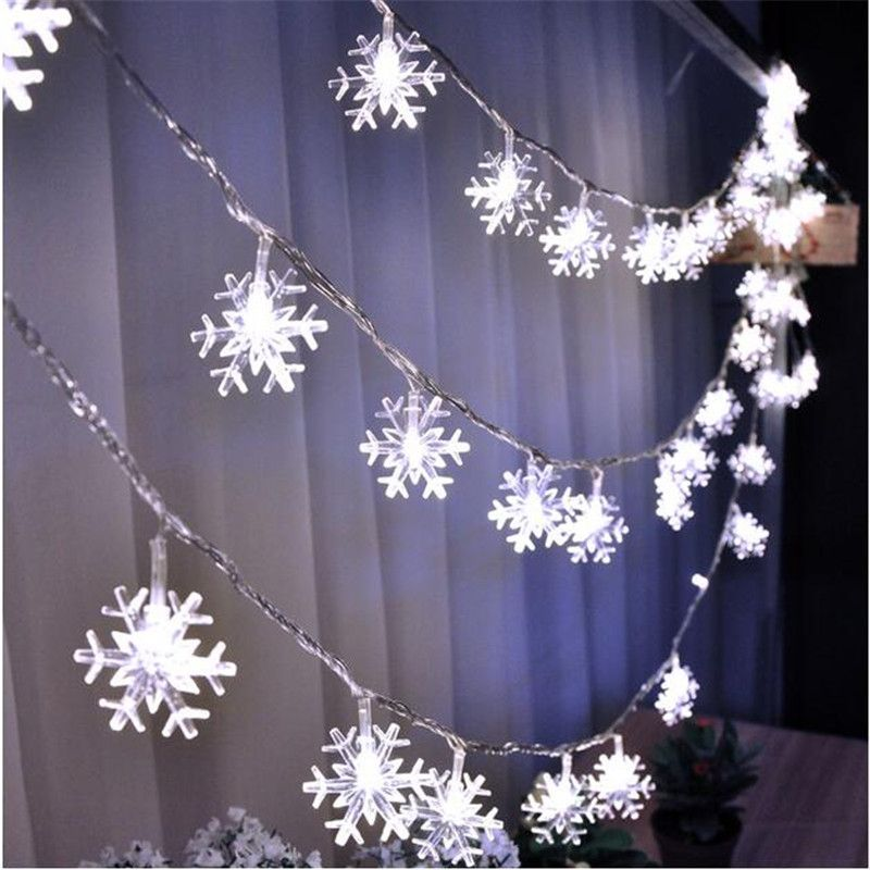 10m 50 led snowflake string fairy lights new year xmas party wedding 10m 50 led snowflake string fairy lights new year xmas party wedding garden light lamp garland aloadofball Gallery