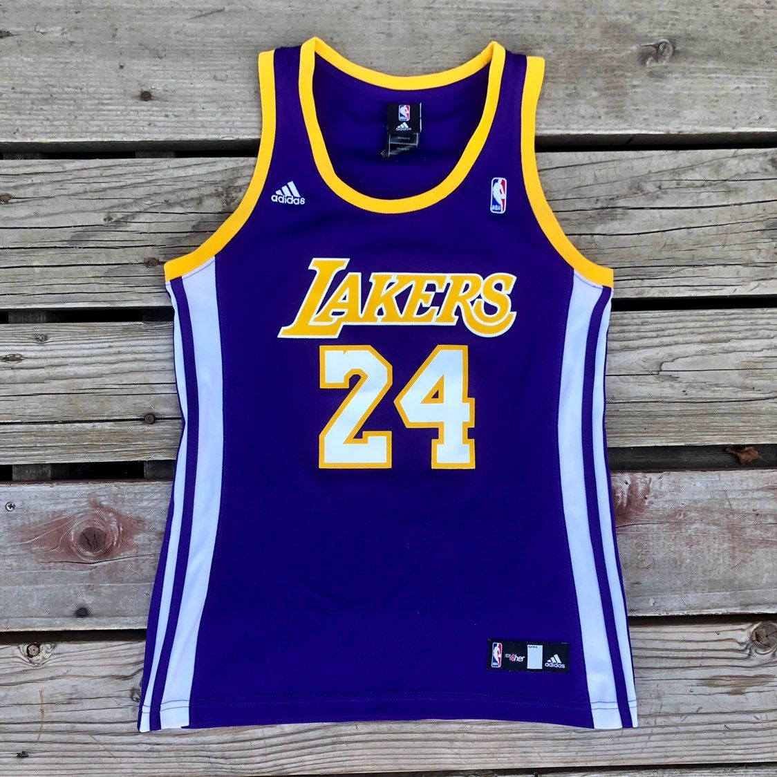 Adidas Kobe Bryant Los Angeles Lakers Jersey Youth Size Medium Good 9 10 Condition Always Willing To Do Lower Pric Adidas Tops Kobe Bryant Los Angeles Adidas