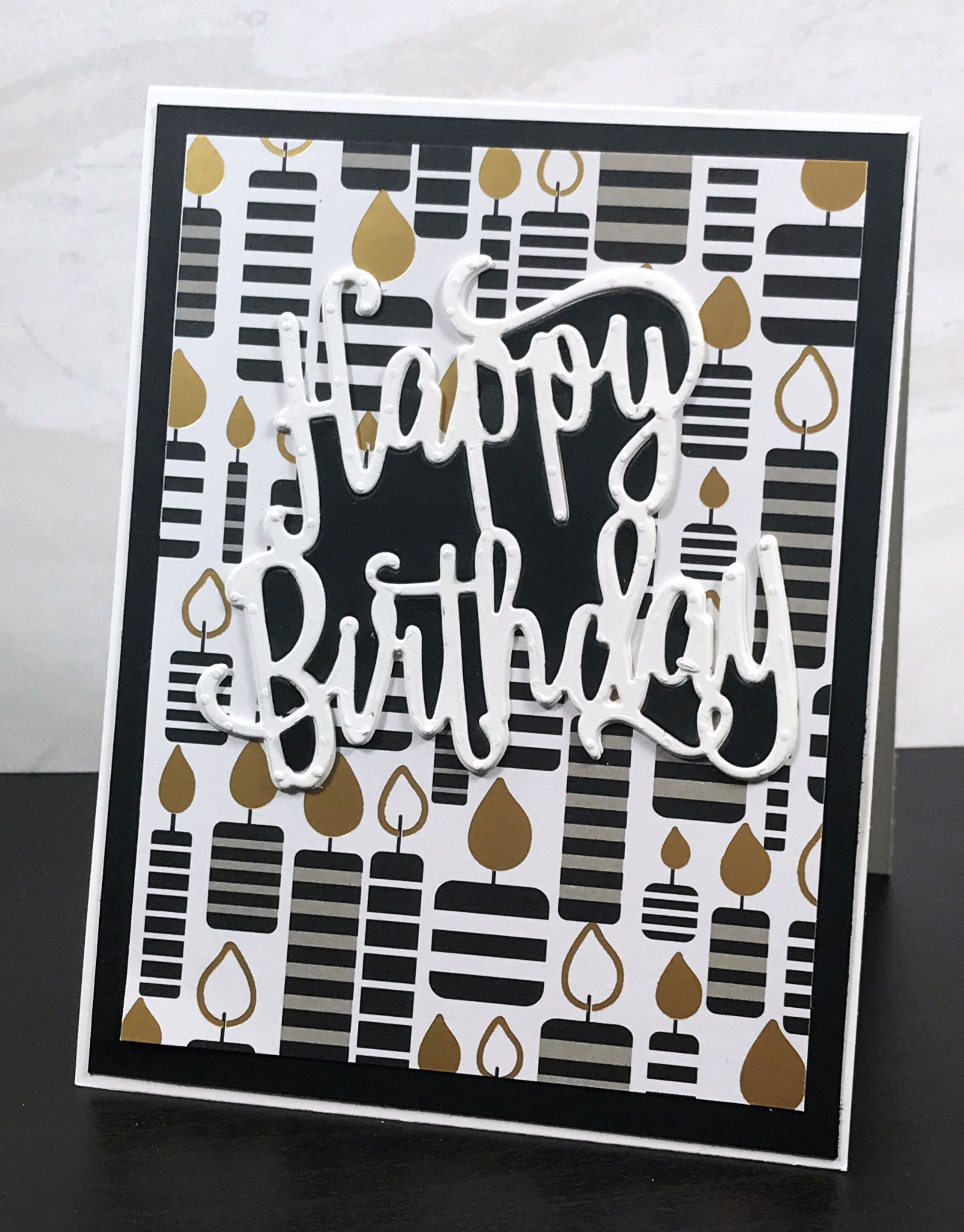 You Can Make A Quick And Easy Happy Birthday Card With Just A Few Things In Order To Add Lots Of Happy Birthday Cards Kids Birthday Cards 60th Birthday Cards