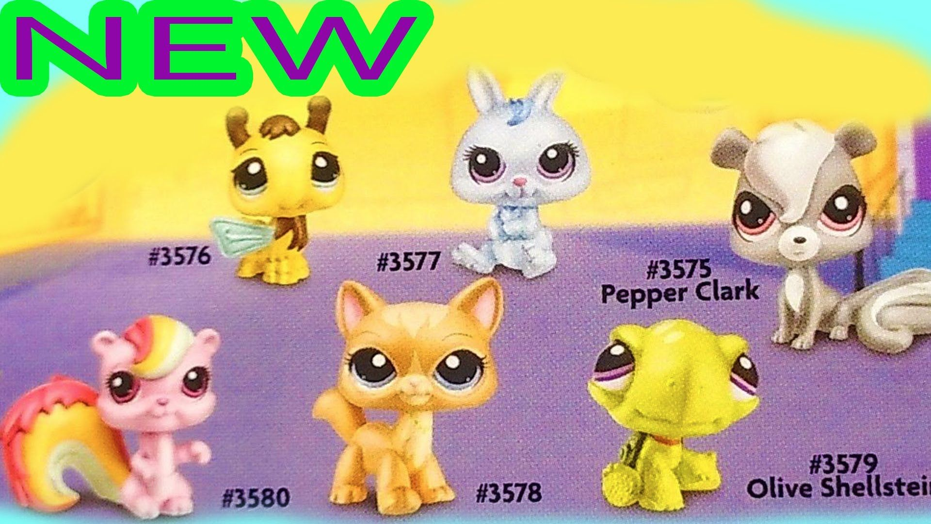 New 2014 Bobble Head Old Style Littlest Pet Shop Lps Pets Part 1