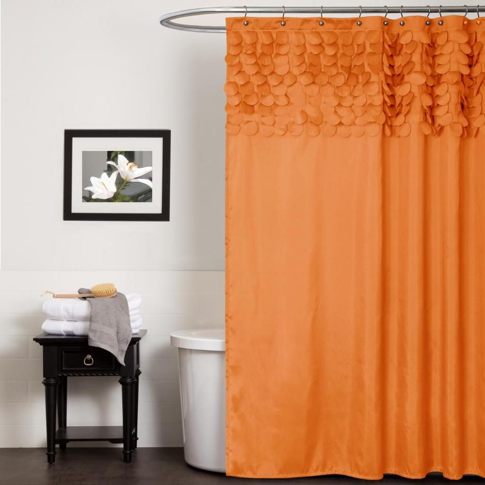 Lush Decor Lillian Orange Shower Curtain | Overstock.com Shopping ...