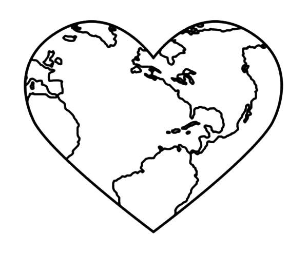 bring love and peace on earth day coloring page bring love and - Earth Coloring Pages