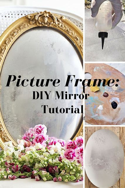 Learn How To Make A Mirror From A Picture Frame Shabby Learning