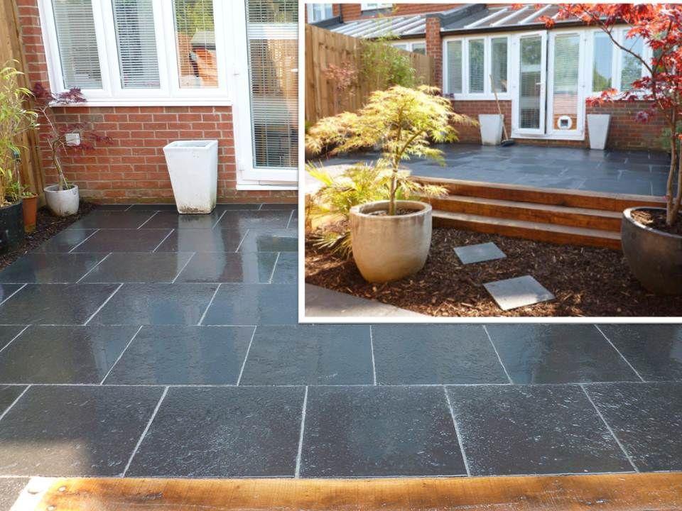image result for carbon black limestone paving images with. Black Bedroom Furniture Sets. Home Design Ideas
