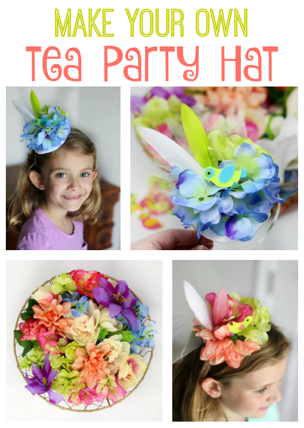 Make Your Own Tea Party Hat To Wear While Sipping Tea Or Pink Lemonade With Your Friends These Little Tea Diy Tea Party Childrens Tea Party Diy Tea Party Hats
