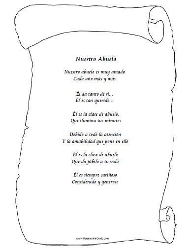 Poema Por El Dia Del Campesino Para Niños De Inicial Poemas Para Abuelos Para Imprimir Gratis Paraimprimirgratis