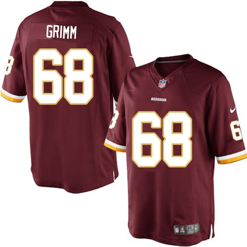 43414490 Nike Limited Russ Grimm Burgundy Red Men's Jersey - Washington ...