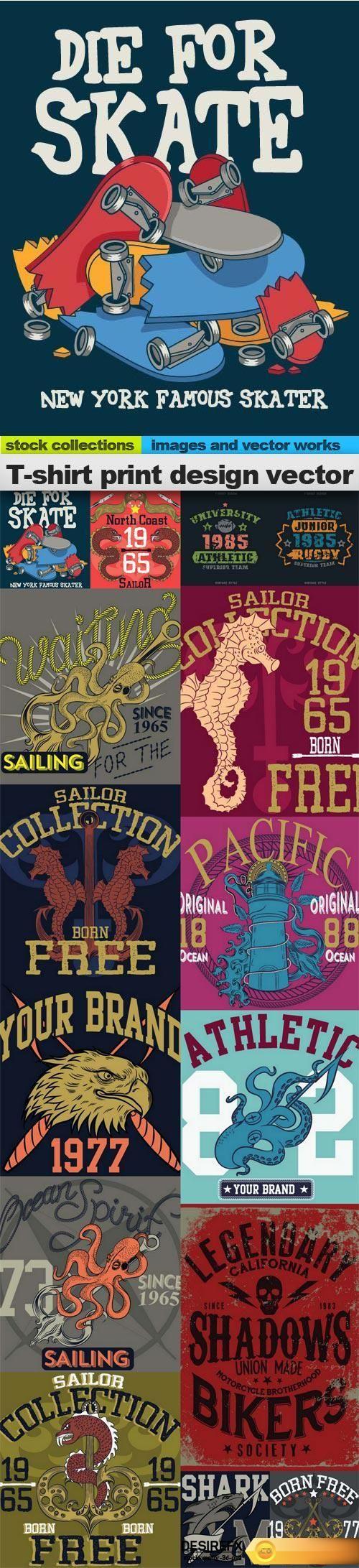 Shirt design eps - T Shirt Print Design Vector 15 X Eps Http Www