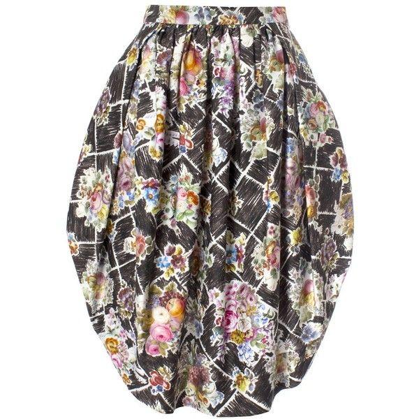 Vivienne Westwood Red Label Alien Skirt Flower Print ($285) ❤ liked