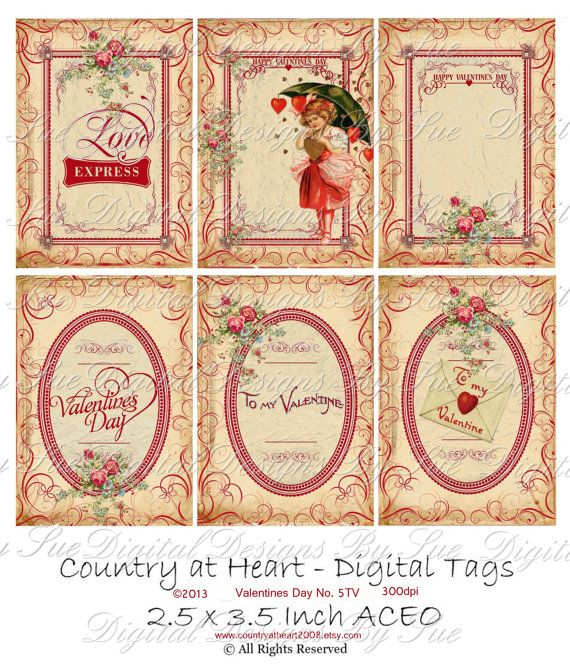 25 x 35  ACEO   Valentines Day No 5TV  by CountryAtHeart2008, $4.99