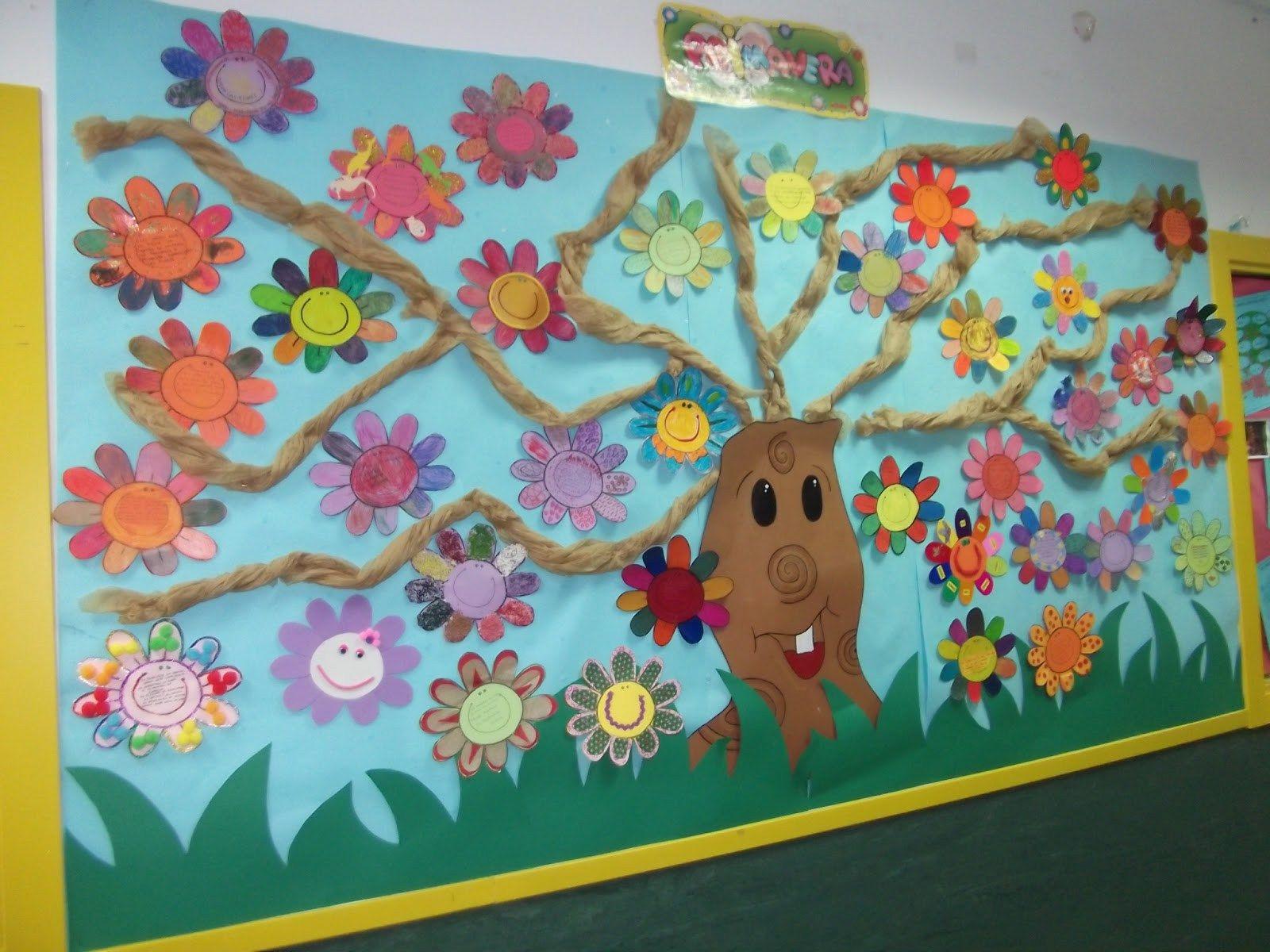 Primavera rincones 11 primavera decoraciones de for Decoracion primavera manualidades