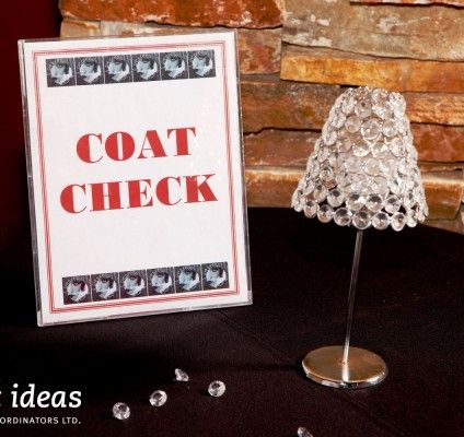 Coat Check Sign For A Greatgatsbygala