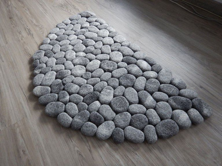 Plush Stone Rungs By Martina Schuhmann Flussdesign 6 These Stone Rugs Are Actually Plush And Squishy Stone Rug Rugs Bath Rugs