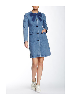 LOVE MOSCHINO Bow Long Sleeve Coat - was $458.0, now $189.97 (59% Off). Picked by mickster @ Nordstrom Rack