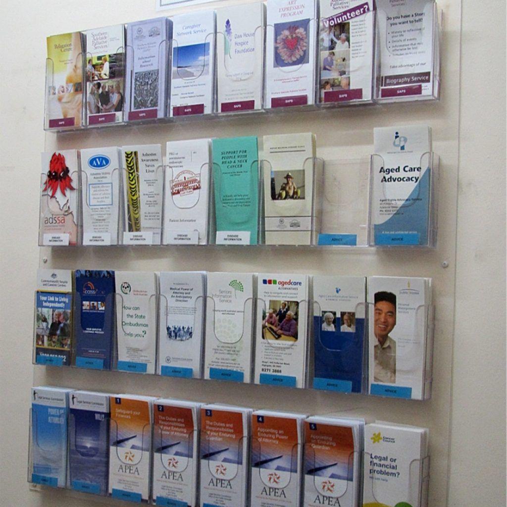 Brochure Holders Wall Mount Brochure Display Literature Display Rack Brochure Holders