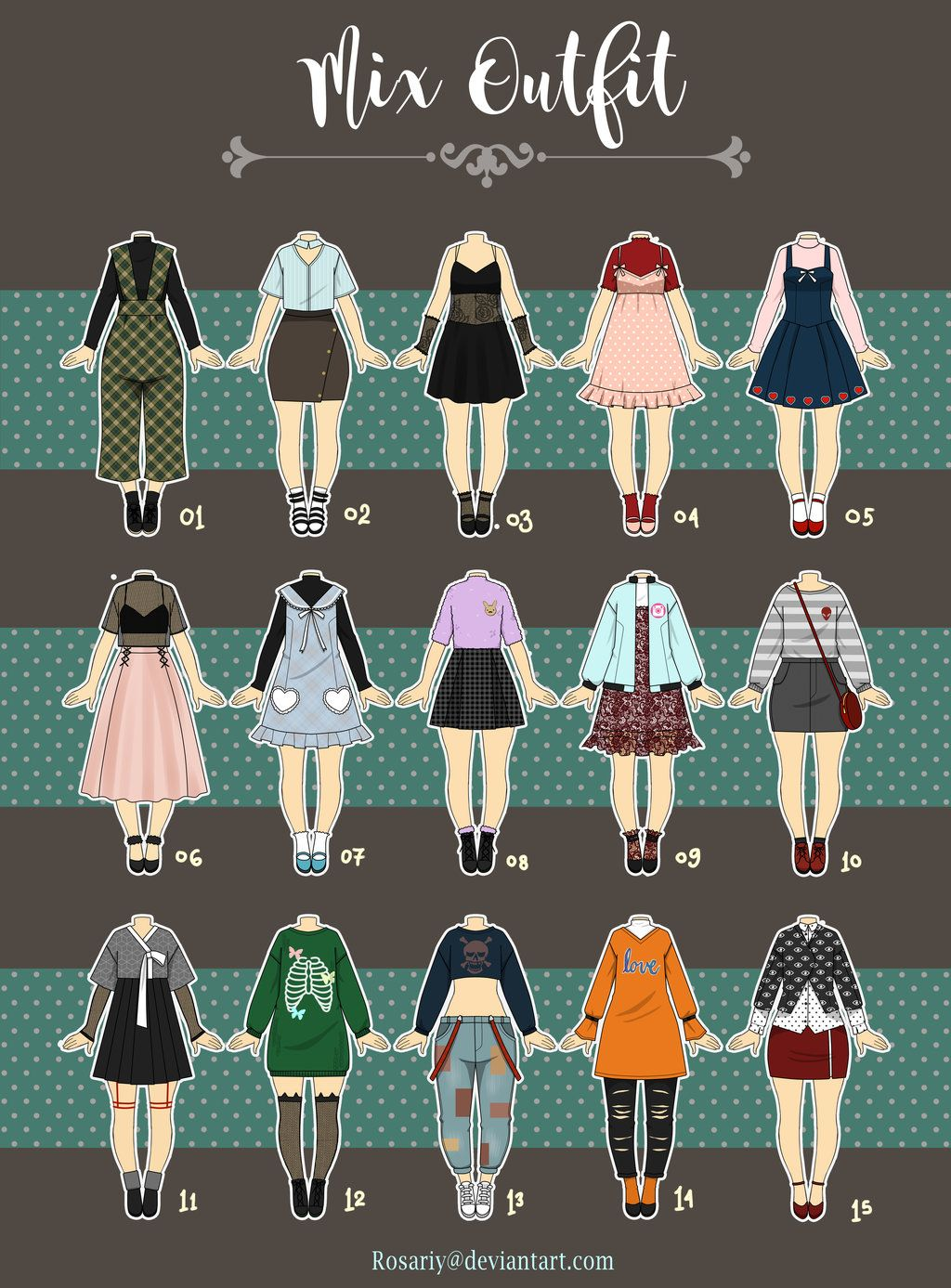 (OPEN 3/15) Casual Outfit Adopts Adopts 13 by Rosariy
