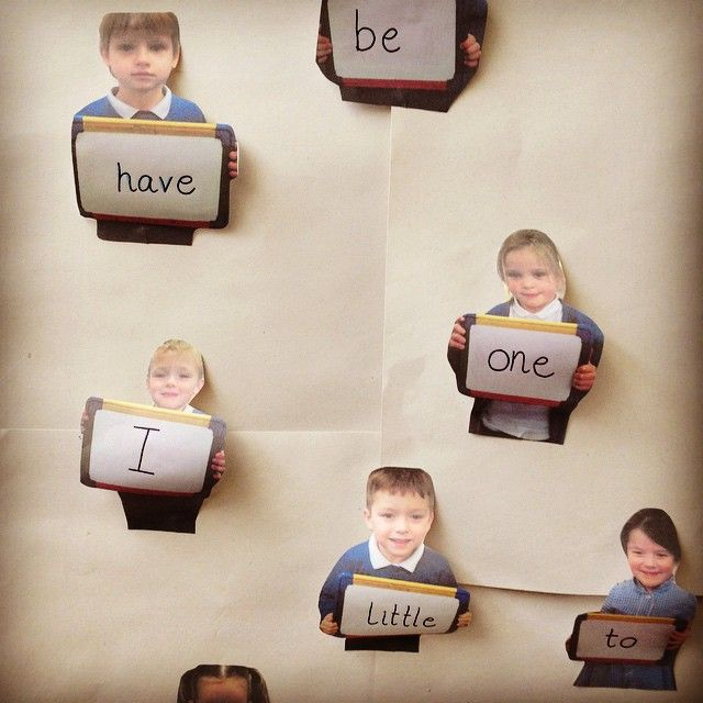 Display // I love a bit of personalised display. Get your children to hold up a blank whiteboard and take their photo. Then you can use them for displaying letters, words, numbers... Anything! #abcdoes #display #eytalking